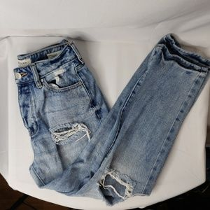 Pacsun Cropped Mom Jeans Size 23 Distressed